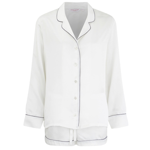 Derek Rose Women's Bailey Silk Shortie Pyjama Set - Ivory