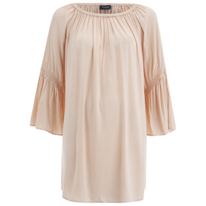 VILA Women's Alantata Long Sleeve Tunic Dress - Pink Sand