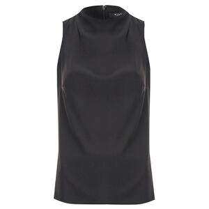 VILA Women's Palus Sleeveless High Neck Blouse - Black