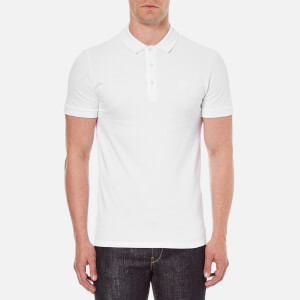 Versace Collection Men's Small Logo Polo Shirt - White
