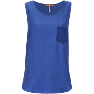 BOSS Orange Women's Kathna Vest Top - Blue