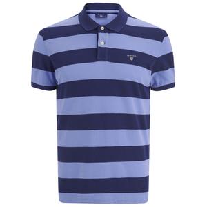 GANT Men's Barstripe Pique Rugger Polo Shirt - Lavender Blue