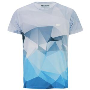 Myprotein Men's Geometric Printed Training Shirt - Light Blue (USA)