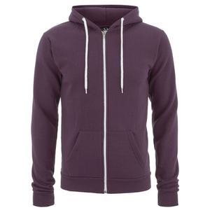 Soul Star Men's Berkley Zip Through Hoody - Burgundy