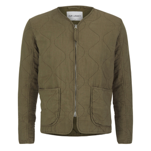 Our Legacy Men's Liner Jacket - Olivine