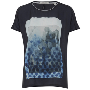 Maison Scotch Women's Photoprint T-Shirt - Blue