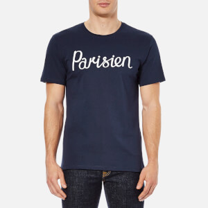 Maison Kitsuné Men's Parisien T-Shirt - Navy