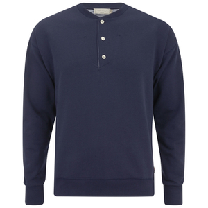 Maison Kitsuné Men's Button Sweatshirt - Navy