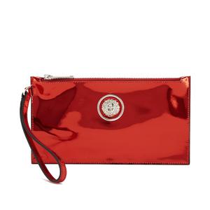 Versus Versace Women's Metallic Clutch Bag - Red