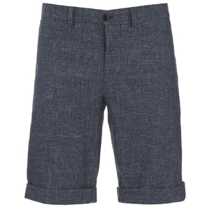 J.Lindeberg Men's Linen Mix Shorts - Navy
