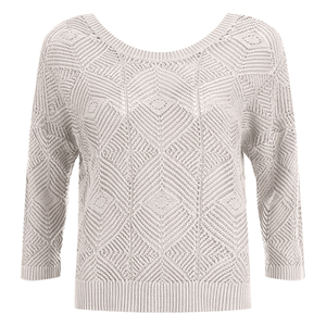 ONLY Women's Noah Short Knitted Pullover - Cloud Dancer