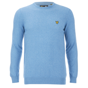 Lyle & Scott Vintage Men's Crew Neck Cotton Merino Jumper - Dusk Blue