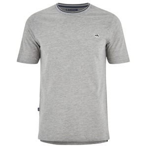 Le Shark Men's Horace Crew Neck Pique T-Shirt - Light Grey Marl