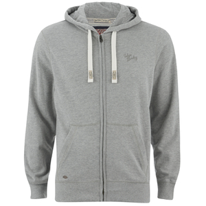 Tokyo Laundry Men's Cobble Hill Zip Through Hoody - Light Grey Marl