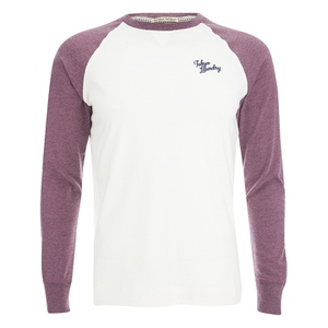 Tokyo Laundry Men's Fremont Raglan Long Sleeve Top - Bordeaux Marl