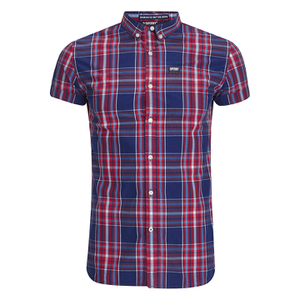 Superdry Men's Shoreditch Button Down Shirt - Cherry Sorbet Check