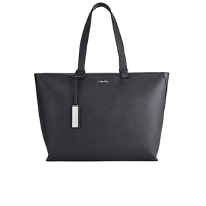 Calvin Klein Women's Sofie Large Saffiano Leather Tote Bag - Black