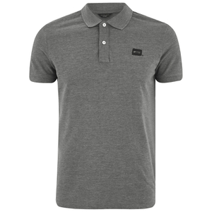 Jack & Jones Men's Core Basic Polo Shirt - Grey Melange