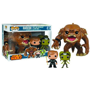 Star Wars Rancor, Luke and Oola Previews Exclusive Pop! Vinyl Figure Bobblehead (3 Pack)
