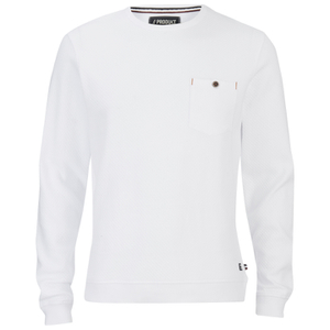 Produkt Men's Textured Crew Neck Sweatshirt - White