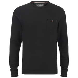 Produkt Men's Textured Crew Neck Sweatshirt - Black