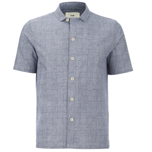 Folk Men's New Piano Short Sleeved Shirt - Tile Check