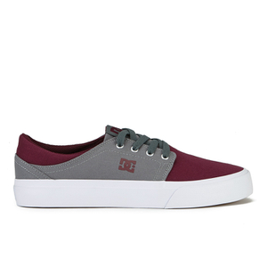 DC Shoes Men's Trase TX Low Top Trainers - Oxblood/Grey