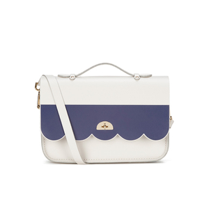 The Cambridge Satchel Company Women's Cloud Bag with Handle - Stripe Clay/Navy Stripe
