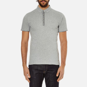 BOSS Orange Men's Playott Placket Trim Polo Shirt - Grey