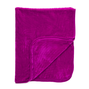 Luxurious Mink Faux Fur Throw - Fuchsia