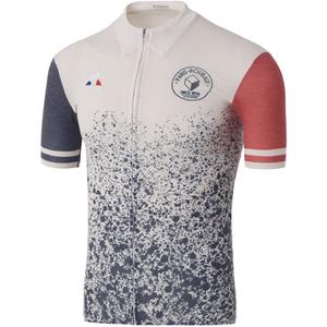 Le Coq Sportif Men's Paris Roubaix Pro Short Sleeved Jersey - White