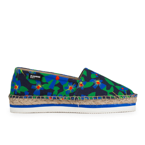 Jil Sander Navy Women's Graphic Flowers Espadrilles - Blue/White