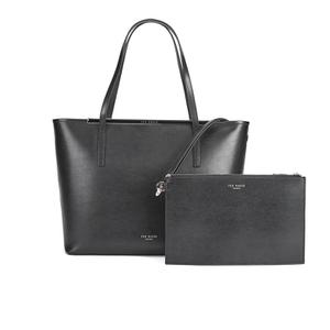 Ted Baker Women's Celiaa Pop Clutch Large Crosshatch Shopper Bag - Black