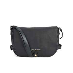 Ted Baker Women's Reagan Stab Stitch Leather Shoulder Bag - Black