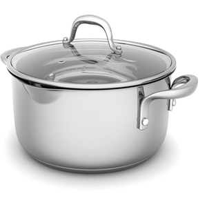 Morphy Richards 79798 Pro Pour Casserole Dish - Stainless Steel - 24cm