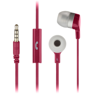 KitSound Entry Mini Earphones With In-Line Mic  - Pink