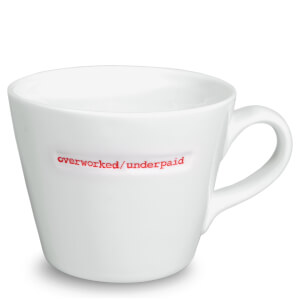 Keith Brymer Jones Overworked/Underpaid Bucket Mug - White