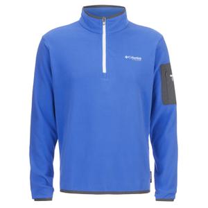 Columbia Men's Titan Pass 1.0 Half Zip Fleece - Hyper Blue