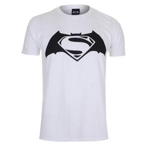 DC Comics Men's Batman v Superman Logo T-Shirt - White