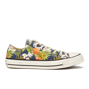 Converse Women's Chuck Taylor All Star Canvas Print OX Trainers - Inked/Egret/Black