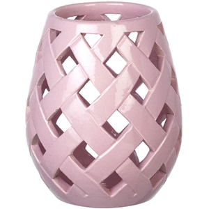 Parlane Beatrix Ceramic Candle Holder - Pink