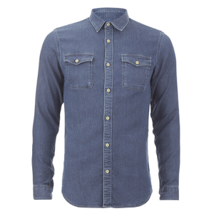 Selected Homme Men's None Sweat Denim Shirt - Light Blue Denim