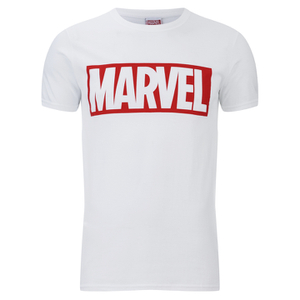 Marvel Comics Herren Core Logo T-Shirt - Weiss