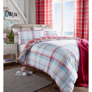 Catherine Lansfield St. Ives Check Bedding Set - Pink