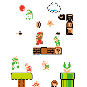 Super Mario Bros. Wall Stickers