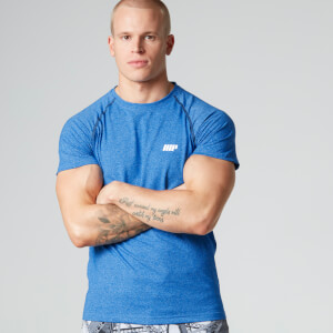 Myprotein Men's Performance Black Raglan Sleeve T-Shirt - Blue