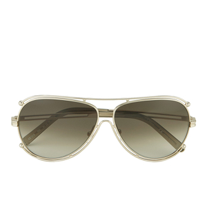 Chloe Women's Metal Edged Aviator Sunglasses - Gold/Brown