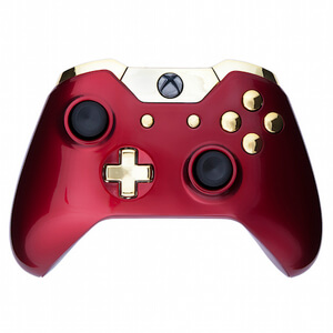 Xbox One Wireless Custom Controller - Crimson Red & Gold