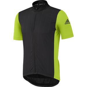 adidas Supernova Ref Short Sleeve Jersey - Black/Semi Solar Slime