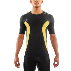 Skins DNAmic Men's Short Sleeve Top - Black/Citron